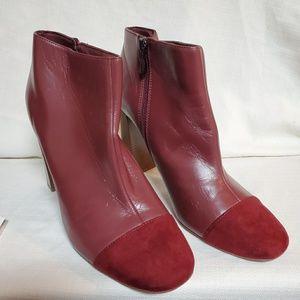 LOFT Burgandy Ankle Boot sz 10 #1337